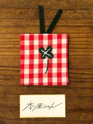 【GOODS】正方形しおり 四つ葉のクローバーーLUCO