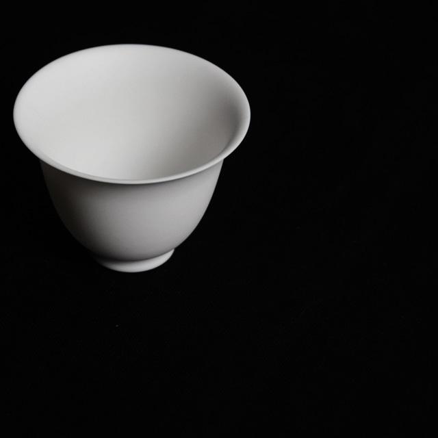 森岡希世子 Kiyoko Morioka  白磁 中国茶器 縁反