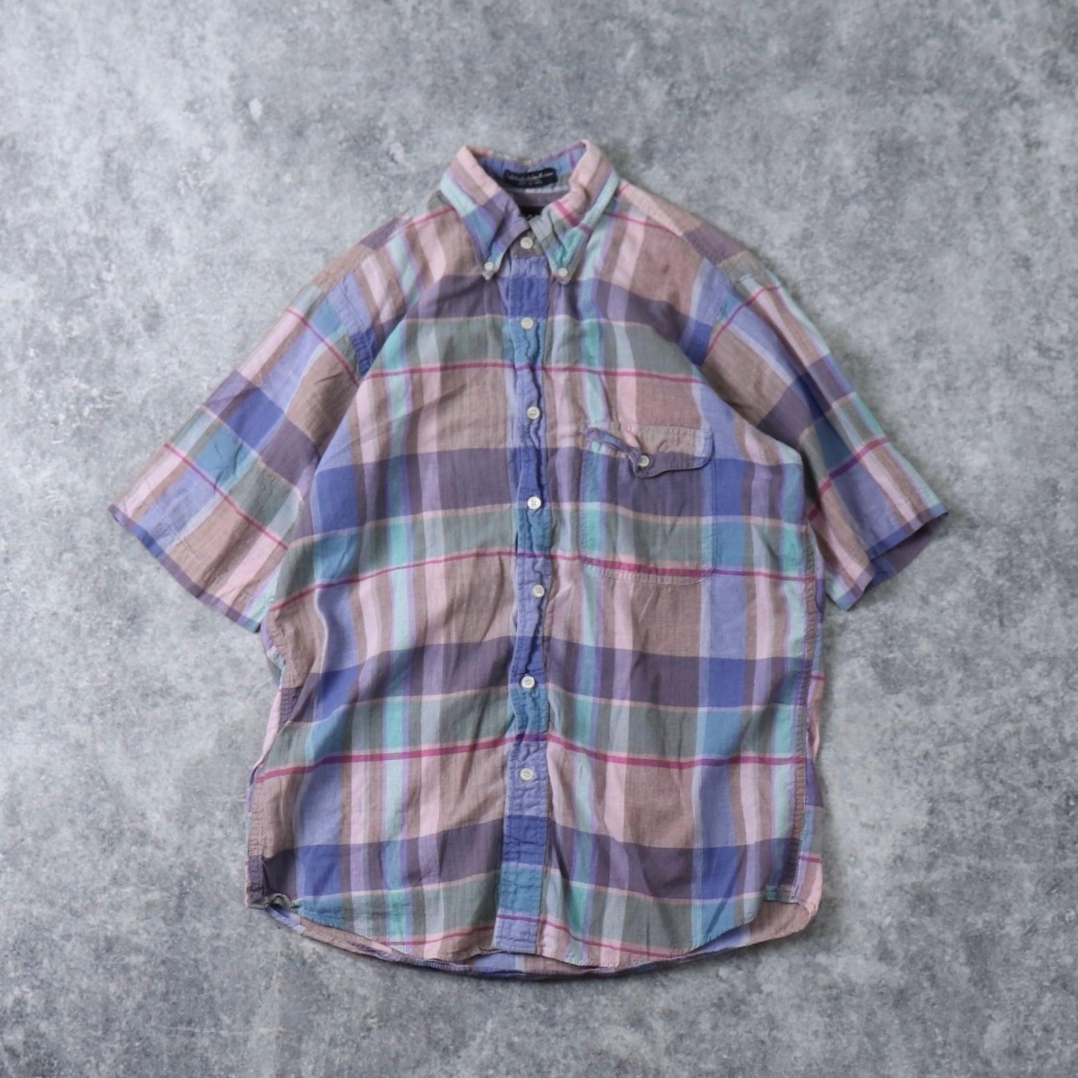 90's GANT 半袖BDシャツ インド綿 90年代 ボタンダウン アイビー Vintage ヴィンテージ  古着 A505