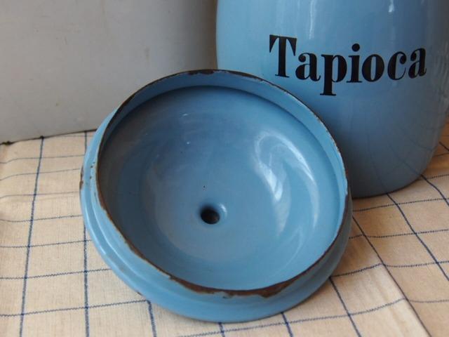イギリスアンティーク キャニスター(Tapioca)
