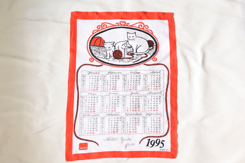 猫と毛糸玉のカレンダー / 1995年