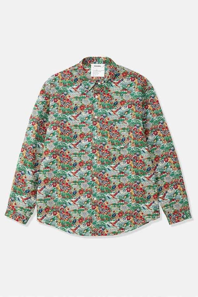 DIGAWEL / Shirt /fabric by LIBERTY(GREEN)