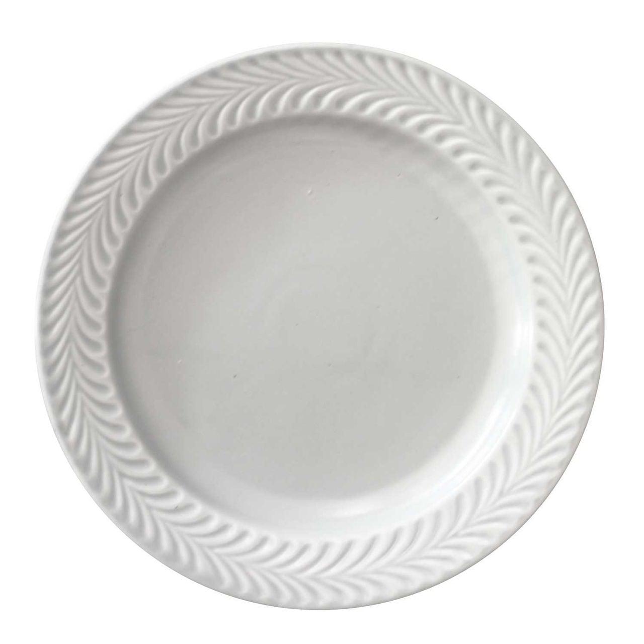 波佐見焼 翔芳窯 ローズマリー リムプレート 皿 約18cm マットグレー 33396