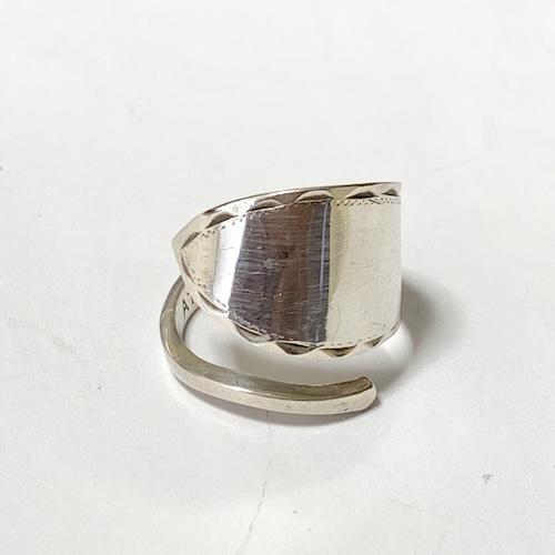 Vintage Engraved Design Siver Ring