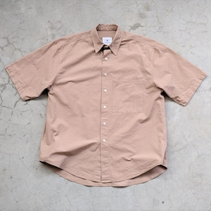 <OSOCU> Dungaree short sleeve shirt persimmon dye