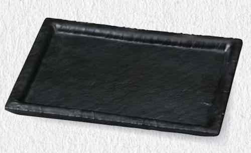 24.5石削り幅広長角皿 6-380-4