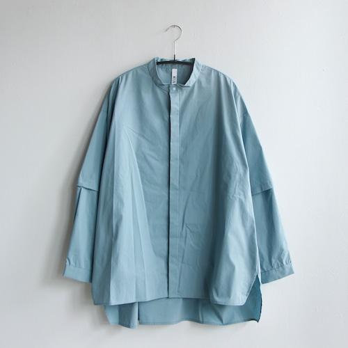 《MOUNTEN. 2021AW》detachable shirts / sax / size1(155-165cm程度)