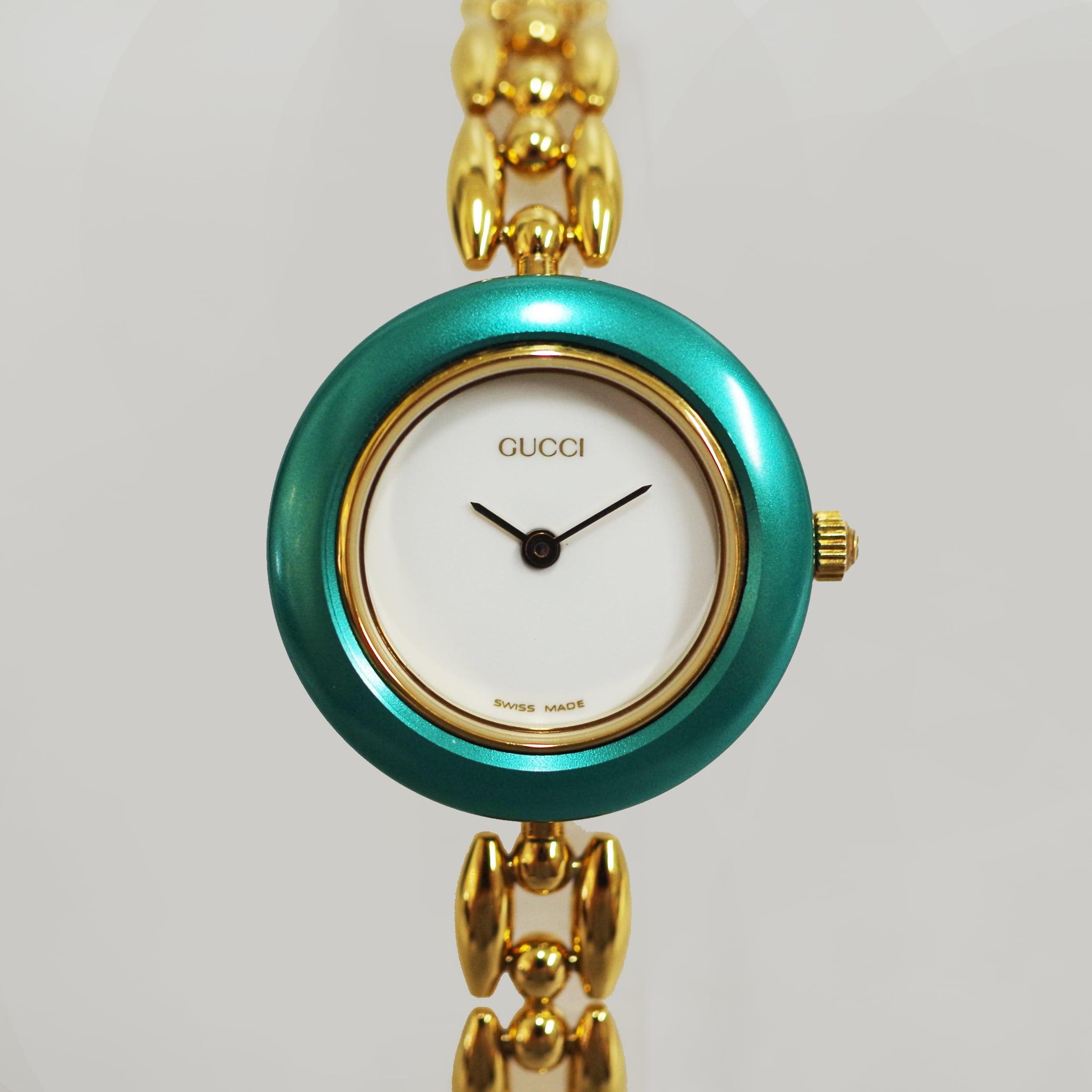 GUCCI グッチ 11/12.2 チェンジベゼル SS クォーツ ホワイト文字盤 腕時計 レディース