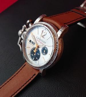 【GRAHAM グラハム】世界限定1本 Chronofighter Vintage Damascus Steel クロノファイターヴィンテージ ダマスカス/国内正規品 腕時計