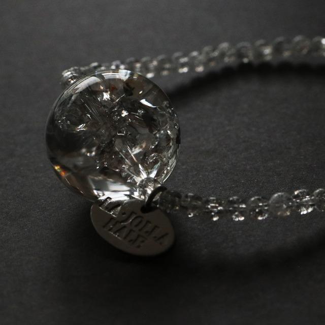 レインボークォーツ×クラック水晶【ブレスレット】〈シルバー〉