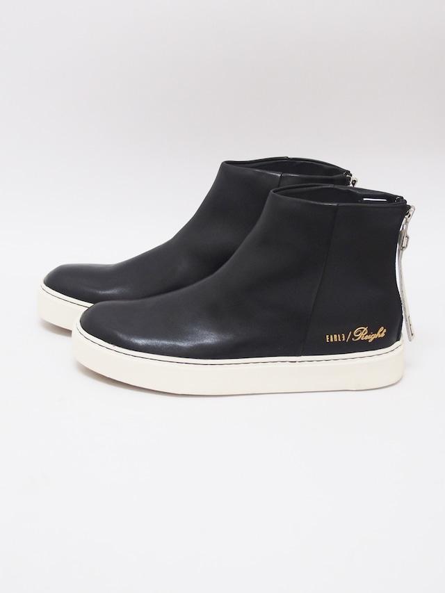 EARLE (アール) Back zip sneaker boots / BLACK ER9410-1