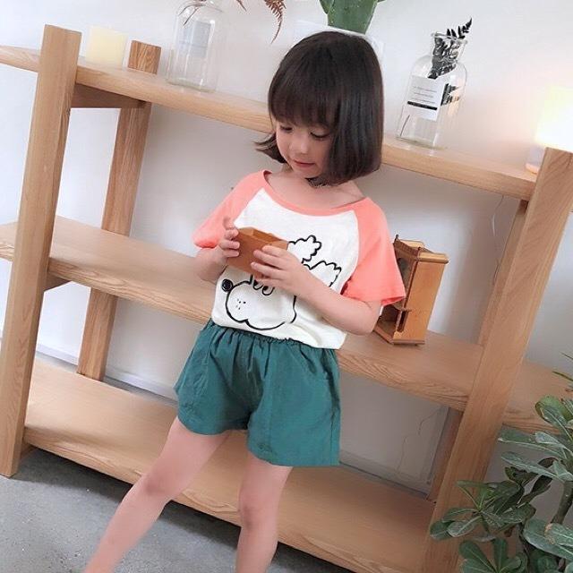 5color simpleショートパンツ グリーン【661】