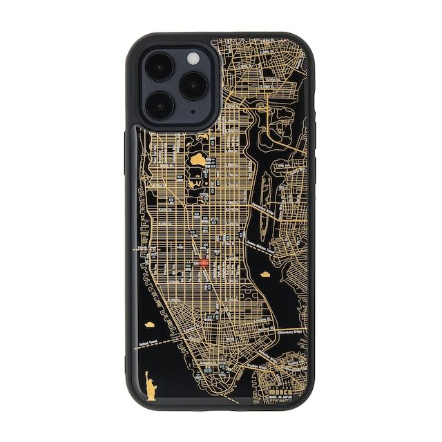 FLASH NY回路地図 iPhone 12 / 12 Pro ケース  黒【東京回路線図A5クリアファイルをプレゼント】