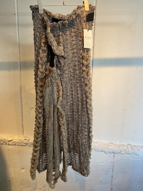 PEIEN mix knit skirt