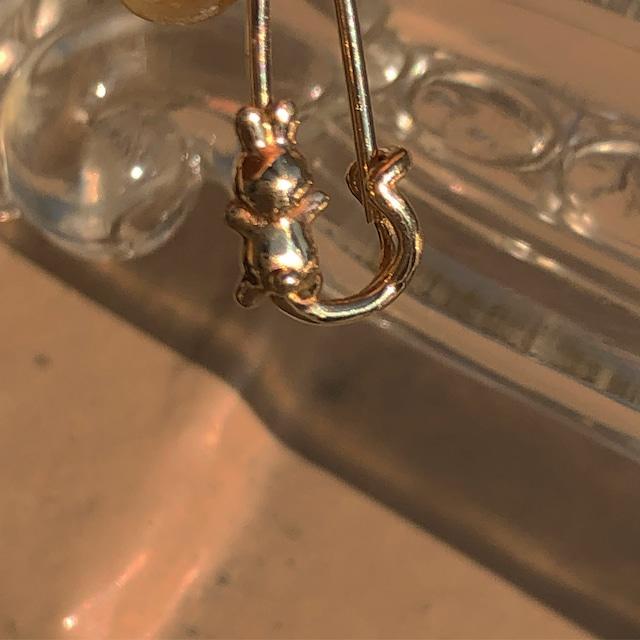 うさぎ pin earring ® K10YG 18G #LJ18002P     うさぎ安全ピンピアス/K10YG