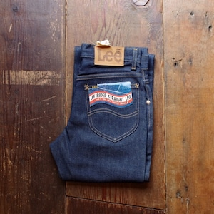N.O.S. !! 1970s Lee Rider Straight Leg Denim Pants / 241-0041 / リー デッドストック 実寸W29