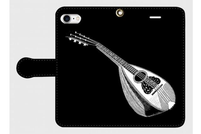 (iPhone用)マンドリンの手帳型スマホケース