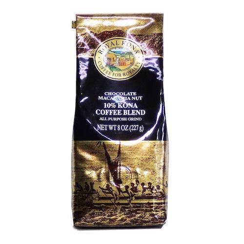 チョコレートマカダミア(挽き済みの粉) ロイヤルコナ(8oz 227g) ハワイコナコーヒー フレーバーコーヒー