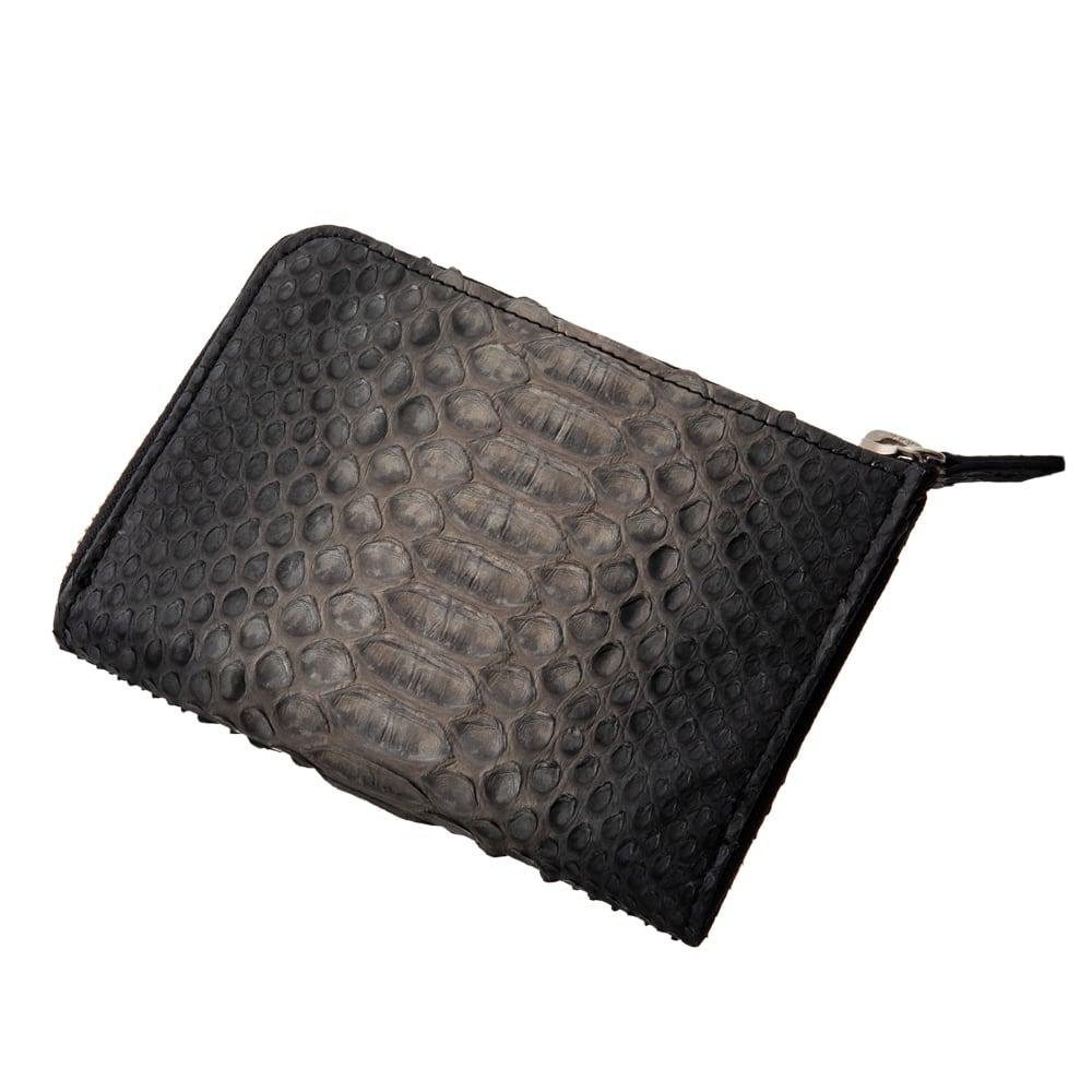 L字スリムグレーパイソンミニウォレット ACW0021 L-shaped slim gray python mini wallet