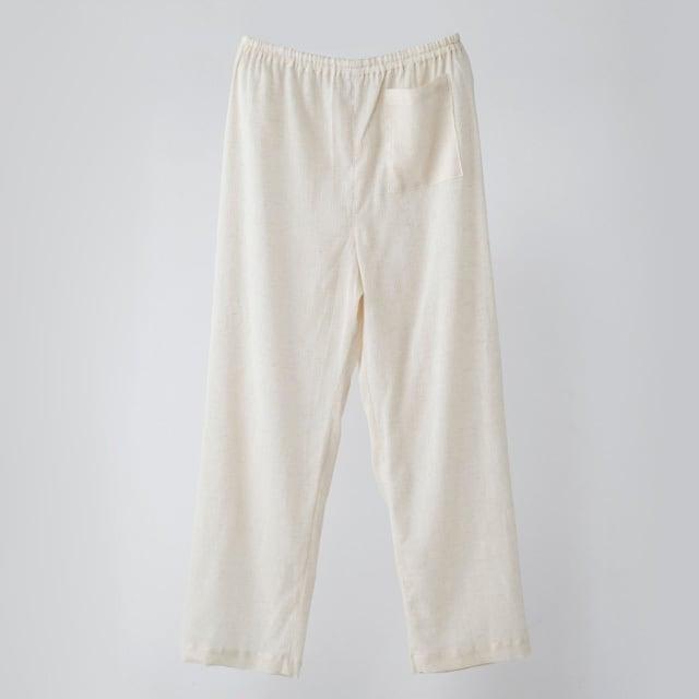 滋賀のねまき/ズボン  単品 素色