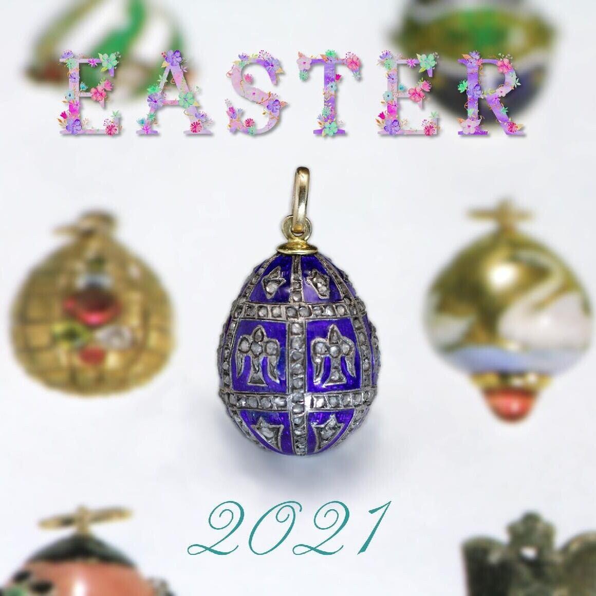Fabergé Easter egg Pendant ファベルジェ イースターエッグペンダント