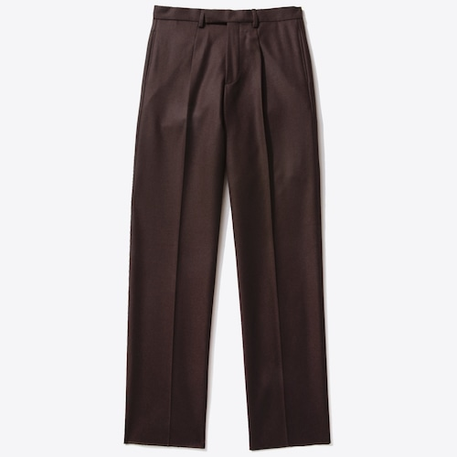 Single-Pleat Trouser(Dark Brown)