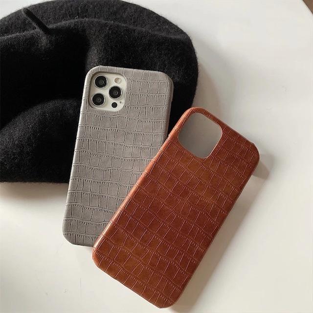 Autumn crocodile iphone case