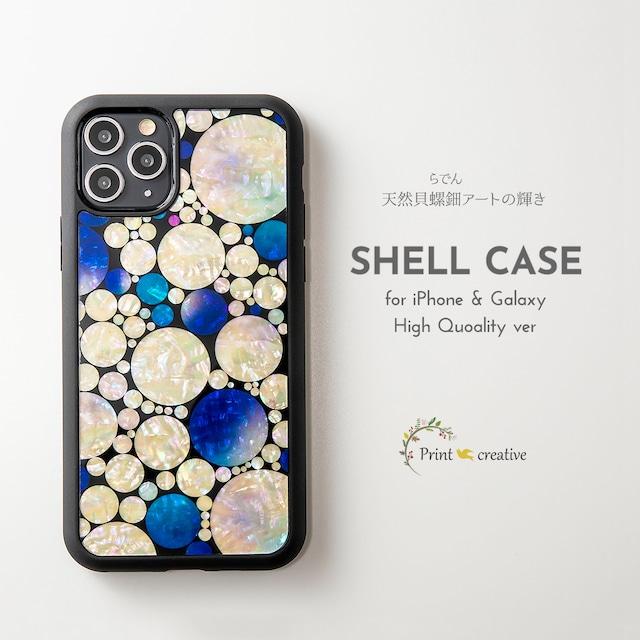 【iPhone13対応】天然貝シェル★プラネットロンド(iPhone/Galaxyハイクオリティケース)|螺鈿アート