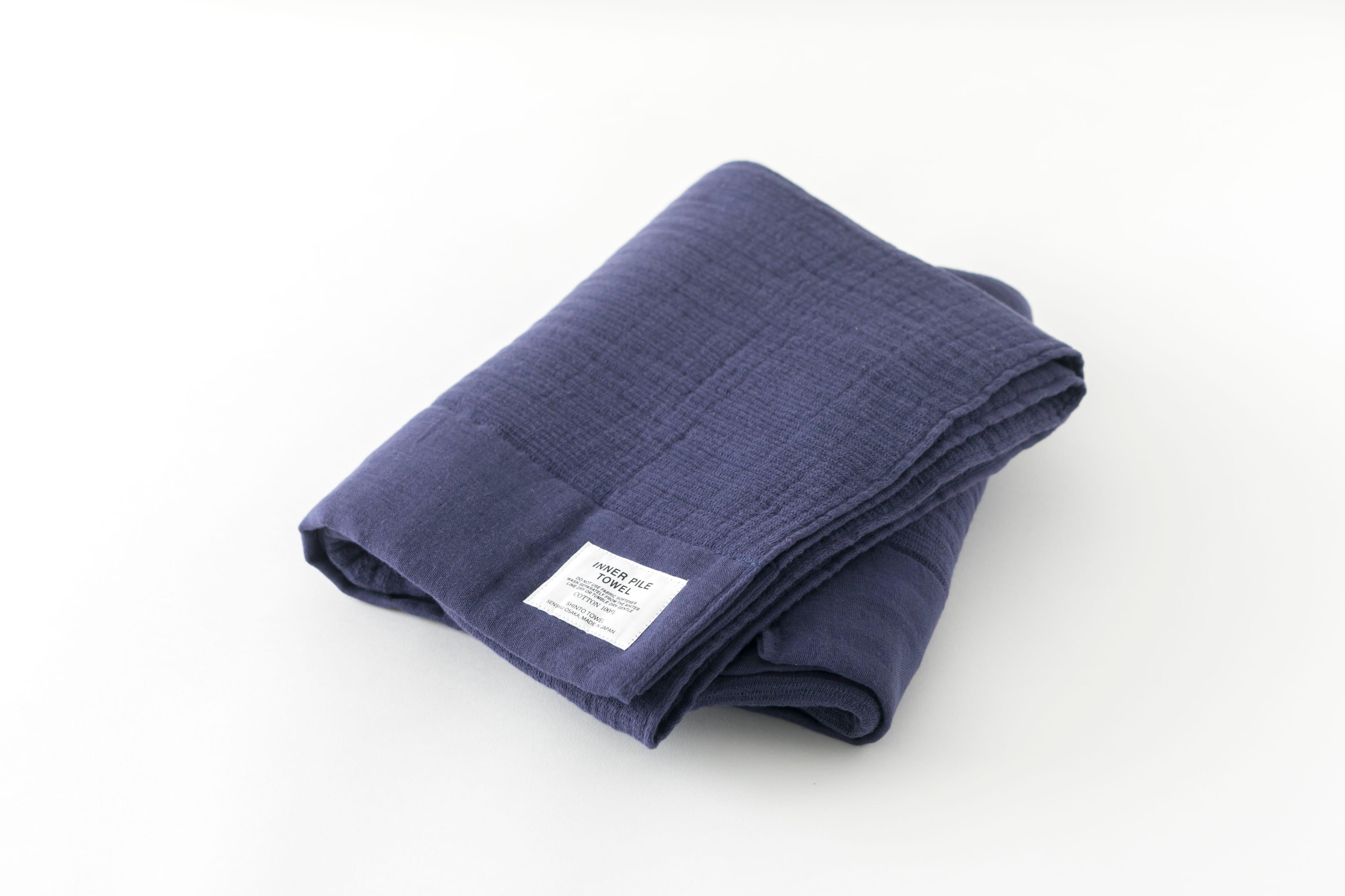 INNER PILE TOWEL : BATH TOWEL (Navy) / SHINTO TOWEL