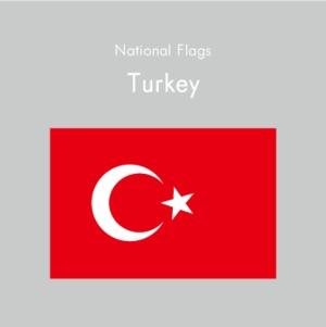 国旗ステッカー トルコ