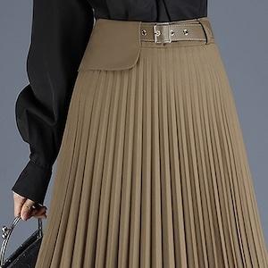 ウエストゴムなのにキッチリ感♡プリーツスカート