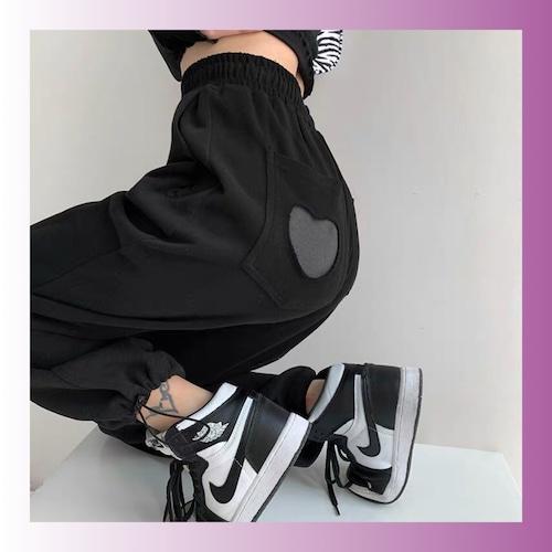 【お取り寄せ】(S〜2XL)バックハート パンツ 3色