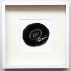 Wall letter◇brave black / Wall decor/calligraphy agate slice/handwritten/ウォールデコ カリグラフィー アゲートスライス