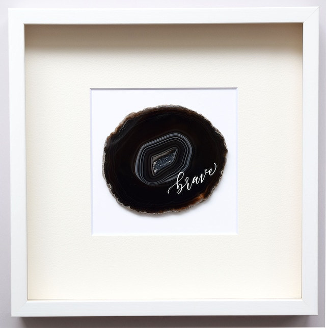 Wall letter◇so it goes turquoise blue/ Wall decor/calligraphy agate slice/handwritten/ウォールデコ カリグラフィー アゲートスライス