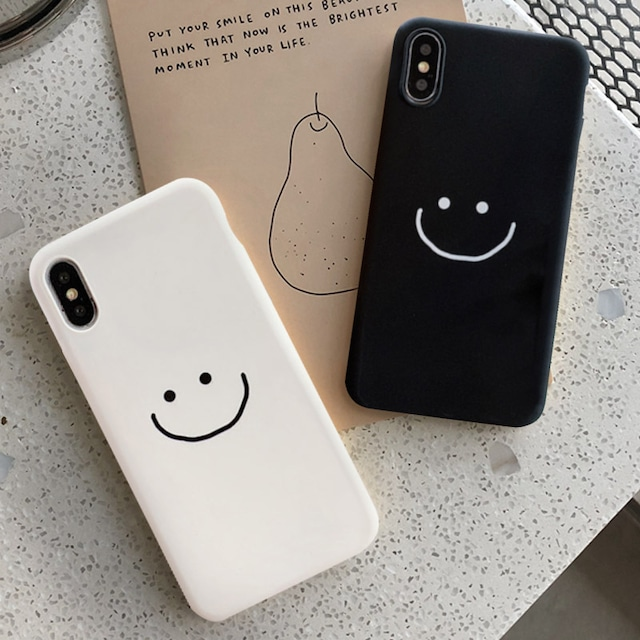 One color smiley iphone case