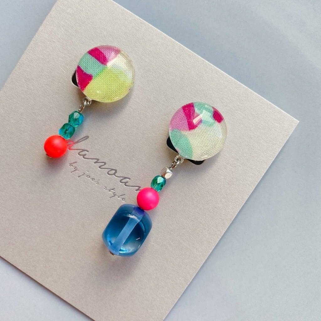 """"""" Earrings NO.danoan-124″ アシメネオンビーズ"""