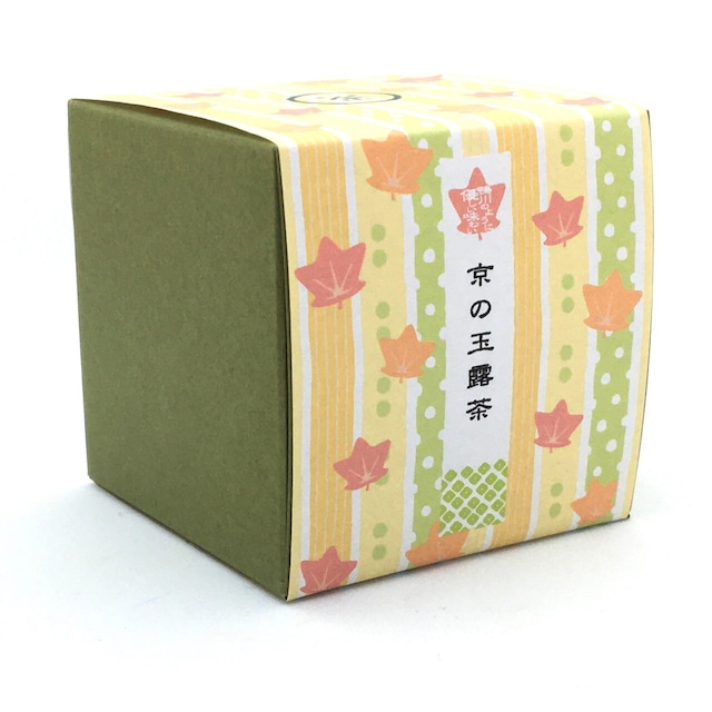 京都の秋 箱茶 鴨川の紅葉(玉露茶ティーバッグ5包入り)