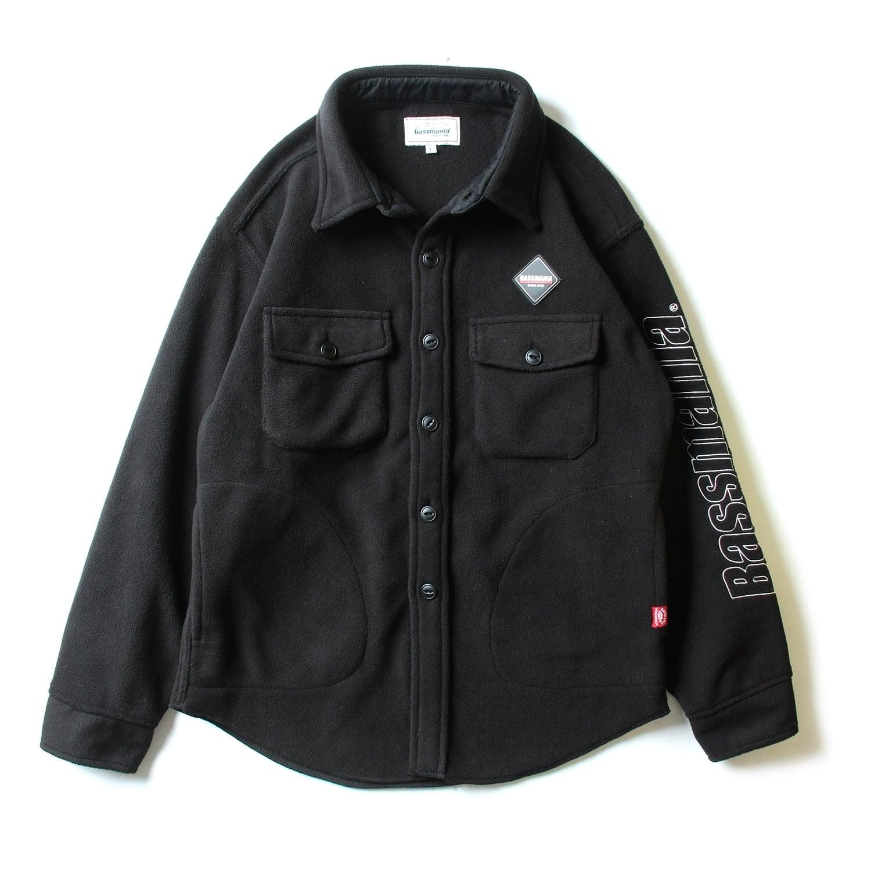 ロゴ刺繍フリースCPOジャケット [BLK]【限定生産】