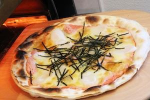 明太餅ピザ