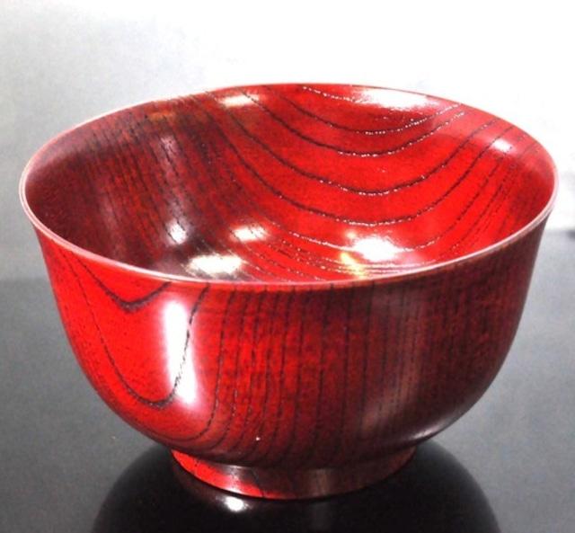 SO-0504 雑煮椀 欅4.3羽反椀 赤摺