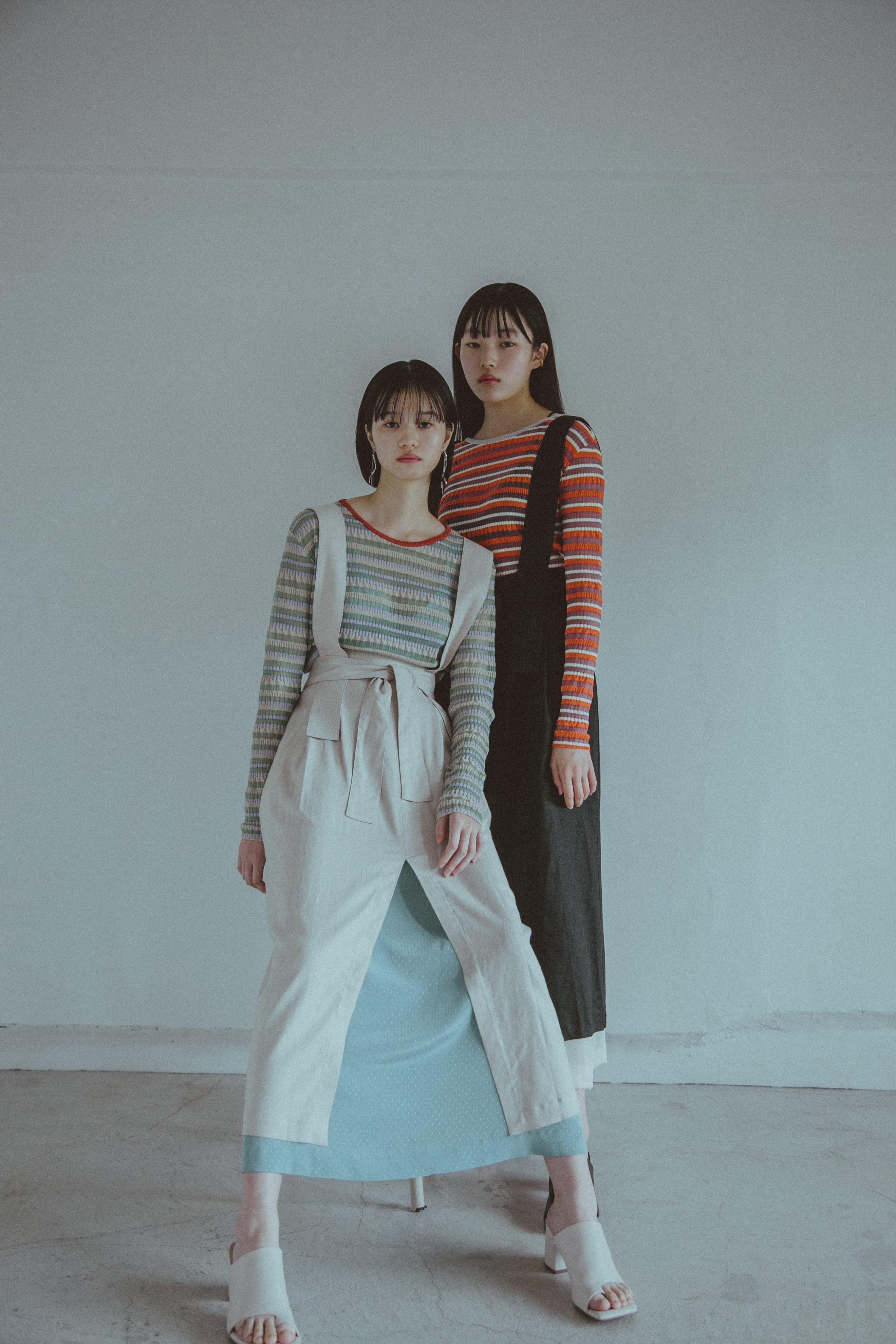 【受注】YUKI SHIMANE Linen mix Jumper Skirt