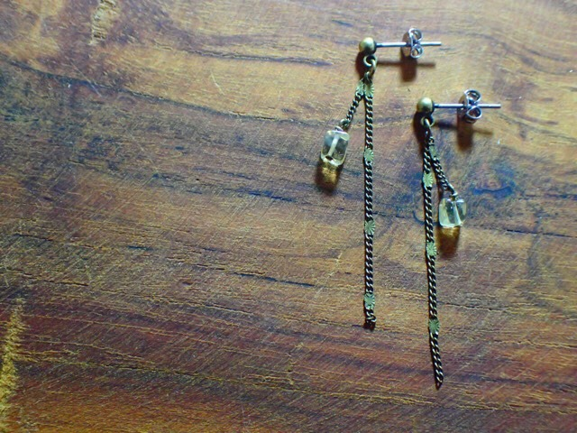 decoravive chain citrine earrings
