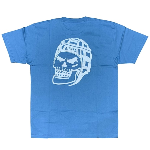RUGBY SKULL Back Print T-Shirt Strong Blue