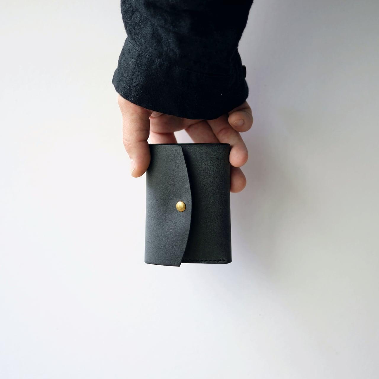 tri-fold wallet - bk - nebbia