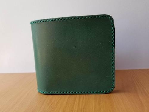 二つ折り財布(ショートウォレット)グリーン