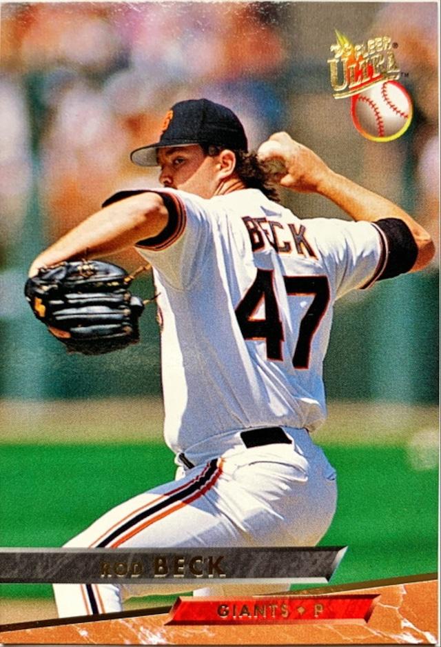 MLBカード 93FLEER Rod Beck #126 GIANTS