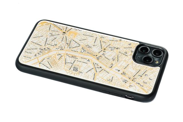 FLASH Paris回路地図 iPhone 11 ProMax ケース  白【東京回路線図A5クリアファイルをプレゼント】