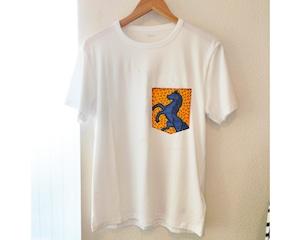 アフリカンファブリックポケットTシャツ・ウマT オーダー