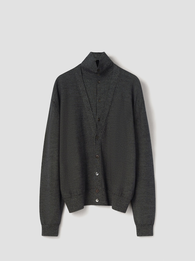 LEMAIRE DOUBLE LAYER CARDIGAN SUBMARINE CHINE M 213 KN319 LK087