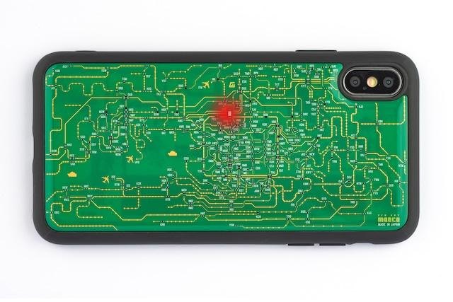 FLASH 関西回路線図 iPhone XS Maxケース 緑【東京回路線図A5クリアファイルをプレゼント】